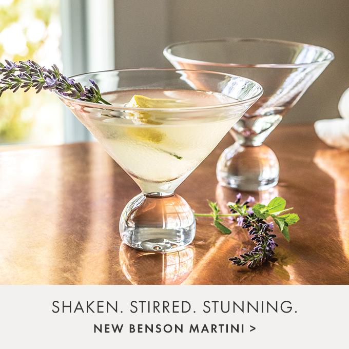 SHAKEN. STIRRED. STUNNING.  — NEW BENSON MARTINI >