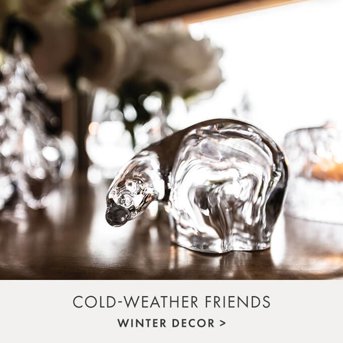 COLD-WEATHER FRIENDS — WINTER DECOR >