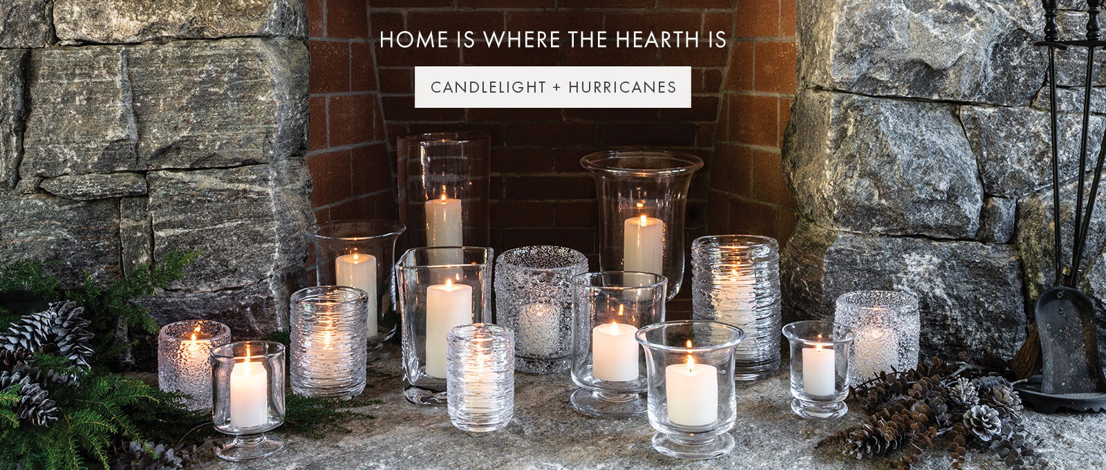 HOME IS WHERE THE HEARTH IS — CANDLELIGHT + HURRICANES >