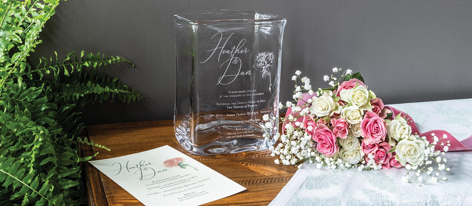 Weston Wedding Invitation Vase