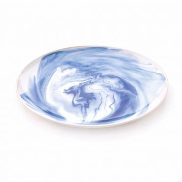 Indigo Marble Platter