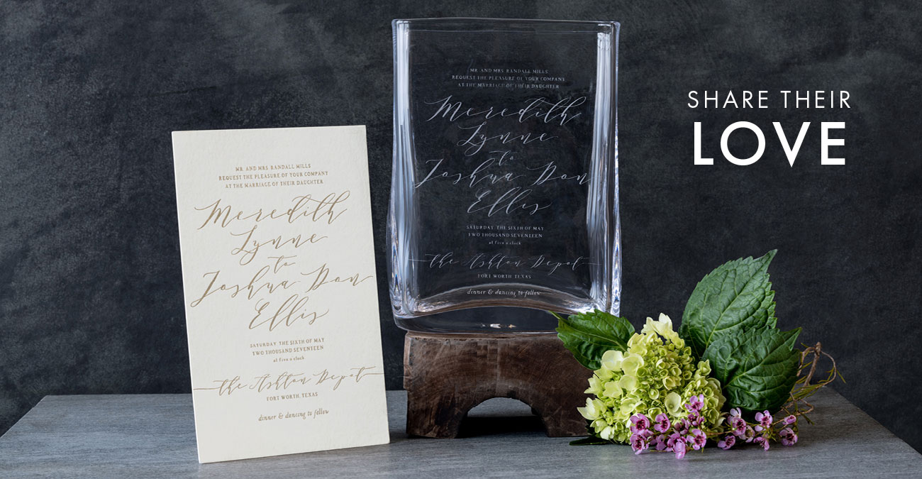 Weston Wedding Invitation Vase