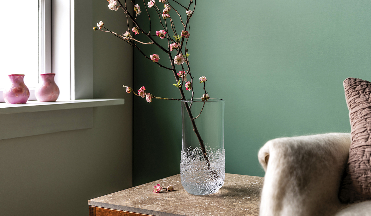 Sterling Pond Vase with Flowers